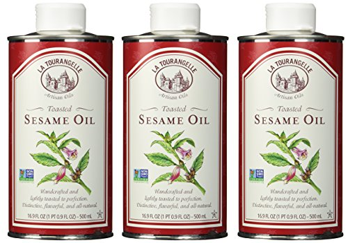 La Tourangelle Toasted Sesame Oil, 16.9-Ounce Unit (Pack of 3) (Packaging may Vary)