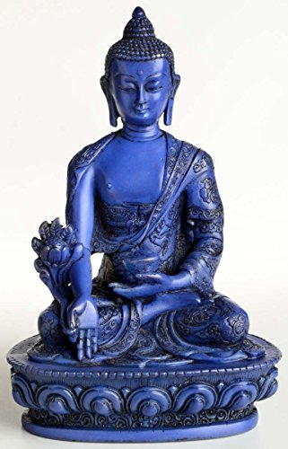 Buda Figuras/Billy Held Medicina Buda Estatua de Buda, Resin, Azul, 20cm