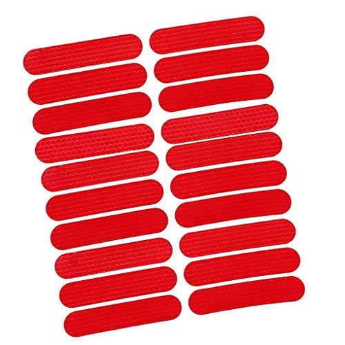 Fangjuhua Reemplazo Vespa Pegatina Reflectante Auto-Adhesivo de la decoración de Moto Scooter de la Etiqueta de la Etiqueta Reflectante para M365 / Pro/MAX, Rojo