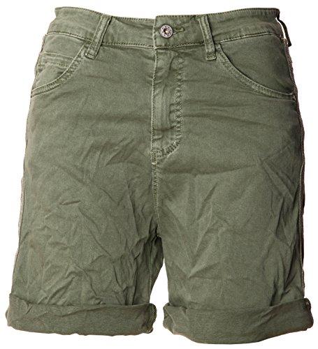 Basic.de Basic.de Damen Bermuda-Shorts mit Metallstreifen Melly & CO 6009 Khaki XS