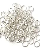 300 pcs Silver Plated Closed Jump Rings 10mm Jewelry Ring Making Findings Craft #89Ts