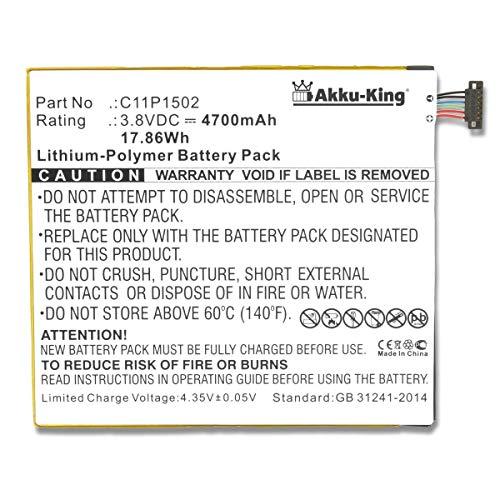 Akku-King Akku kompatibel mit Asus ZenPad 10, ZenPad 10.1, P023, Z300C, Z300CG, Z300CXG, ZD300M - ersetzt C11P1502, C11P1517 - Li-Polymer 4700mAh