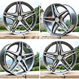 New 20 inch x 8.5 Wheels Rims CL63 AMG Double Spokes Style Gunmetal Machined Face Compatible With Mercedes Benz Bolt Pattern 5x112 Set Of 4