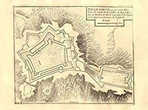 'Belle-Garde'. Fort de Bellegarde plan, Le Perthus, France. DE FER - 1705 - old map - antique map - vintage map - Pyrénées-Orientales maps