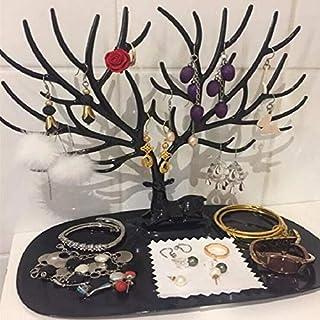 Blanc rosenice Arbre /à bijoux porte bijoux pr/ésentoir /à bijoux bijoux plateau Cerf