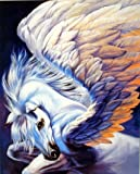 Wall Decor Mythical Pegasus Wings Sue Dawe Horse Fantasy Art Print Picture (8x10)
