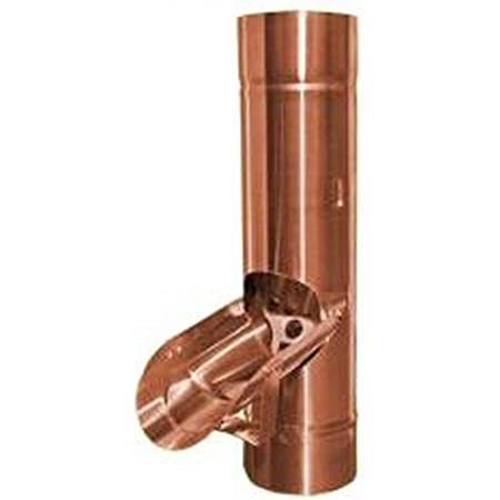 80 mm 80 Regenrohrklappe Kupfer in den Gr/ö/ßen 60 76 87 und 100 mm
