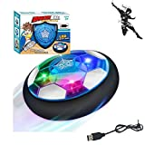 MSHK Kids Toys Air Power Soccer Hover Ball, Indoor Soccer Ball Floating Soccer con Luces LED - Football Gifts for Boys Kids