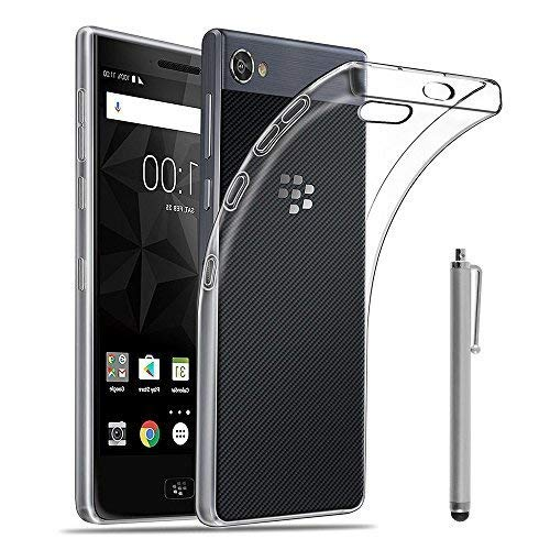 """VCOMP® Housse Etui Coque Gel UltraSlim et Ajustement Parfait pour Blackberry Motion 5.5"""" [Les Dimensions EXACTES du Telephone: 155.8 x 75.5 x 8.1 mm] + Stylet - Transparent"""