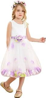 Bow Dream ガールズドレス 女の子ドレス 子供ドレス スパンコール フォーマルドレス 入園式 演奏会 発表会 袖なし 写真撮影 パーティードレス