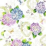 Hule Mantel Por Metros Verano flores Hortensia b9029-01 Grande SELECCIONABLE en anguloso Rendondo OVAL - Más Colores, 5 m x 140 cm