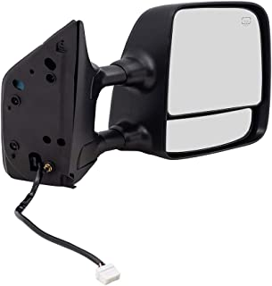 Passengers Side View Tow Mirror Power Heated Memory Telescopic Dual Arms Replacement fits 04-15 Nissan Titan Pickup Truck 96301ZR20E