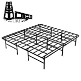 Homdock 16 Inch Metal Platform Bed Frame, Heavy Duty Sturdy Mattress Foundation/No Box Spring Needed/Noise Free/Easy Install/Black Finished,King