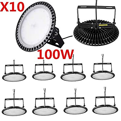 Bellanny 100W 200W 300W UFO LED High Bay Light,Easy to Install,Dust Proof,IP65 Waterproof, Ultra Thin Warehouse LED Lights High Bay Lighting for Garage Warehouse LED Lights