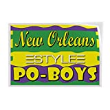 Decal Stickers Multiple Sizes New Orleans Po-Boys Restaurant Cafe Bar Industrial Vinyl Safety Sign Label Restaurant & Food 14x10Inches