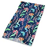WITHY Clothing Accessories 16-in-1 Headband - Microfiber Sports Headwear - Little Merry Mermaids Bandana Balaclava for Cycling Yoga Fishing - Breathable/Moisture Wicking