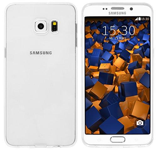 mumbi Funda Compatible con Samsung Galaxy S6 Edge Plus Caja del teléfono móvil, Blanco Transparente