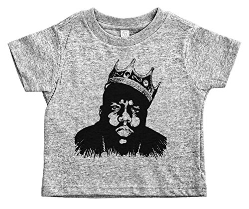 Baffle Biggie Smalls Toddler Tee/Biggie/Notorios Big Toddler Shirt (2T, Grey)