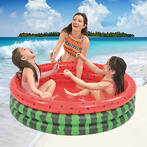 Vwlvrsco Summer Garden Cute Watermelon Inflatable Children Kids Bathtub Water Play Swimming Pool Toy Safe Durable Watermelon Red