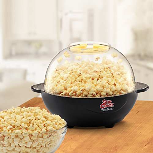 Product Image 3: West Bend Popcorn Machine, Stir Crazy Black