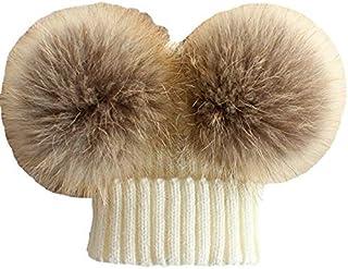 Winter Raccoon Dog Fur Ball Hat Collar Suit
