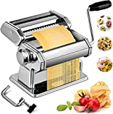 Pasta Maker Machine, Manual Stainless Steel Noodles Maker,7 Adjustable Thickness Settings Pasta...