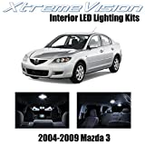 Xtremevision Interior LED for Mazda 3 MS3 2004-2009 (10 Pieces) Pure White Interior LED Kit + Installation Tool