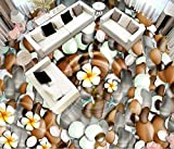 Mattonelle Adesive Personalizzato 3D Pavimento In Pvc Ciottoli Nell'Acqua Fiori Vinile Sfondi Muro Di Mattoni Pavimenti In Vinile Adesivi Cucina Sfondi Floor-150_X_105Cm