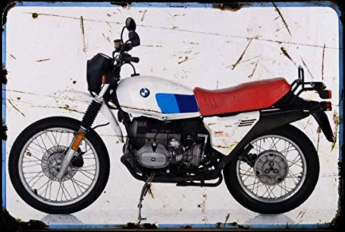 Red Rat Bmw_R80 Gs 82 A4 Blechschild Motorrad Vintage gealtert