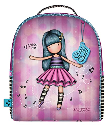 SANTORO Mini Mochila Gorjuss Dancing Among The Stars, 200x220x100 mm, Rosa