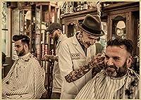 タトゥー理髪店DIYダイヤモンドペインティングキット5Dフルドリルラインストーンクリスタル刺繡写真クロスステッチアートクラフト大人子供プレゼントホームウォール(スクエア50x60cm)