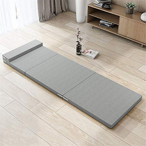 Lqfcjnb Folding Mattress Sponge Folding Mattress Space Saving Futon Sofa Bed For Guests Or Floor Mat Travel Bed Mattress Easy Storage Without Occupying Space (Color : Light Grey, Size : 70x200x5cm)