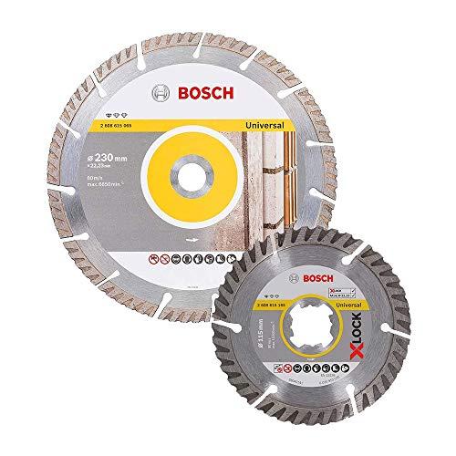 Bosch 06159975Z4 06159975Z4-Set de 4 Discos Std. 2 x 230 + 2 X-Lock 115 mm