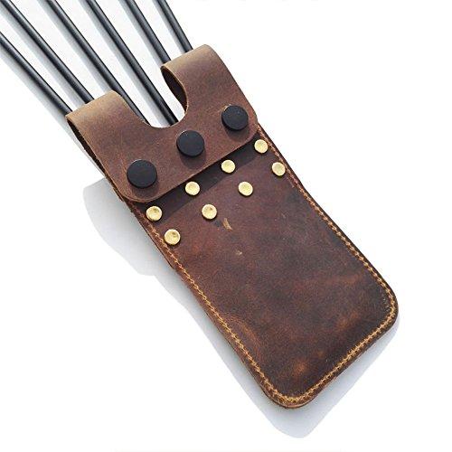 ZSHJG Archery Pocket Arrow Köcher Leichte Hüfte Pocket Quiver Gürtel Taille Köcher für 6 Pfeile Lagerung (Braun)