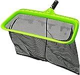urchindj Swimming Pool Leaf Skimmer Net, Reinforced Frame Deep Rake Net Bag - Fast Cleaning, Easy Debris Pickup and Removal