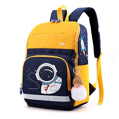 Mochila escolar para niños, mochila escolar para niños, mochila escolar para niños, mochila para niñas, mochilas, mochila escolar, mochila ligera e impermeable, amarillo (Amarillo) - 9873710538481