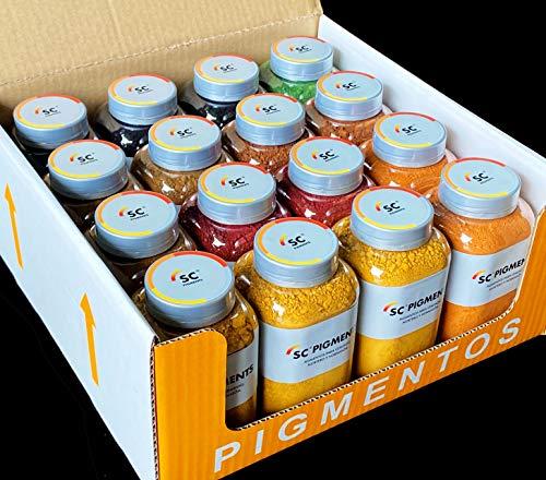 PACK 10 BOTES / 10 COLORES · Pigmentos para cemento, mortero y...