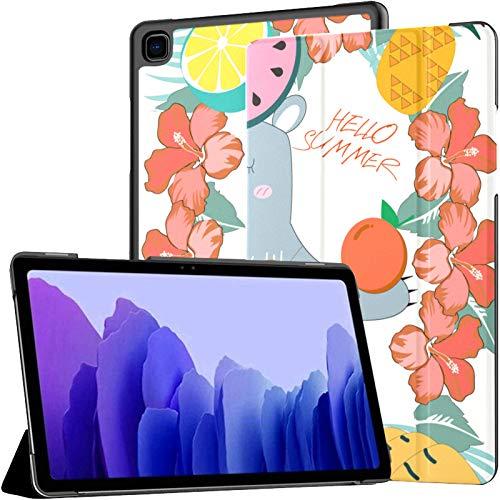 Funda para Samsung Galaxy Tab A7 Tableta de 10,4 Pulgadas 2020 (sm-t500 / t505 / t507), Lindo Oso de Peluche Colorido Soleado Verano Funda con Soporte de múltiples ángulos con activación/suspensión