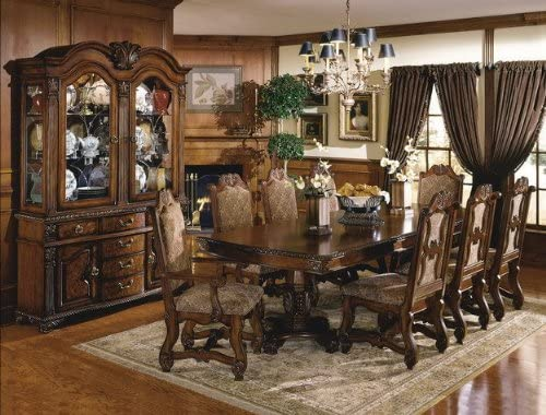 CROWN MARK NEO RENAISSANCE DINING ROOM 6 SIDE Bargain sale Charlotte Mall SET CHAIRS ARM 2