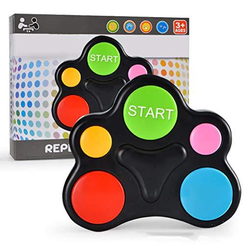 Hihey Kreativitäts Pädagogisches Gedächtnisspiel Memory Buzzer mit Licht & Sound, Memory Lernspielzeug für Kleinkinder, Motorik Spielzeug