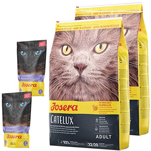 Josera 2 x 10 kg Catelux + 2 x 70 g Filet Nassfutter *getreidefrei*