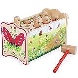 All'inizio Melody xilofono di Legno del Martello g Bambino in Legno for Bambini con Strumento Multi-Colored percussione Musical Gift Toy Xilofono Naturale Battere Giocattoli Musicali
