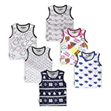 NammaBaby Sleeveless T-Shirt Hero Print for Little Rock-Star Multi-Co-loured Pack Of 6 Cloth :Housary Cotton Neck - Round Neck Evergreen for any season and time Styling Tip: Mix n match this T-Shirt with shorts, sandals and cap.