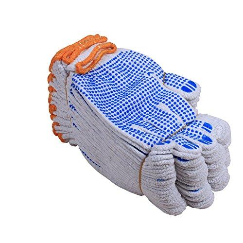 Fayear Arbeitshandschuhe, Schutzhandschuhe für Fabrik, Garten, aus weißer Baumwolle, 12Paar