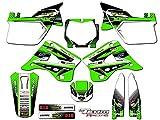 Team Racing Graphics kit compatible with Kawasaki 1994-1995 KX 125/250, ANALOG Complete Kit
