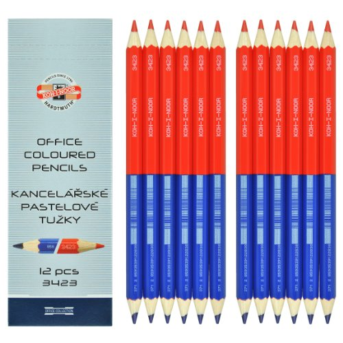KOH-I-NOOR 34230eg006ks 9mm oficina laápiz de color–azul/rojo (Pack de 12)