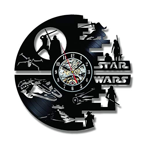 SOKIMI Kreative Star Wars Schallplatte Wanduhr 3D 12