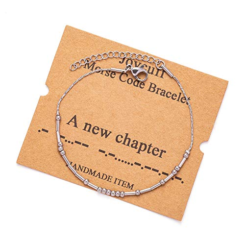 JoycuFF Morse Code Bracelets for Women A New Chapter Funny...