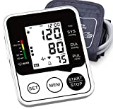 [2021 Upgraded Version] Blood Pressure Monitor - Accurate & Automatic Upper Arm BP Machine - Irregular Heartbeat & Hypertension Detector, Digital Meter with Large Display for Home Use