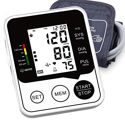 monitor with blood pressures Blood Pressure Monitor, Accurate and Automatic Upper Arm BP Machine, Digital Meter with Large Display